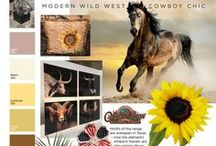 Wild Horses - Modern Wild West - Cowboy Chic / Get your FREE Trend Report www.uBloom.com/Trends2016 Motifs of the range are evergreen in Texas-  & now across the USA. Popular Succulents continue and segue to their Cacti cousins is a natural outgrowth. Horses, including equine accoutrement, are happy on a California Beach as they are at their other home on the range. Calla Lily in brown and orange tones reflect elegant ambitions, while Sunflowers are arranged into crows for authentic flair at only the best soirées. Patriot accents fit nicely