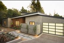 Cupertino home remodel / Kitchen, living room, dining room, exterior and entrance