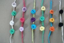 Bracelets crochetés / bracelets crochetés avec du fil coton