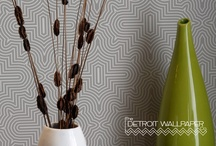 METRIX by The Detroit Wallpaper Co. / Our METRIX collection consists of geometric designs with a nod to 60's and 70's patterns, while looking forward with a modern sensibility. These are bold, graphic patterns for today's homeowner who is not afraid to express their taste with adventurous shapes and styles. Intricate line work and pattern versus negative space are the major players in this collection. http://detroitwallpaper.com/collections/metrix.html