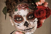 Sugar Skull, Doll Makeup, Zombie / I love Halloween so this board is all about makeup - zombies, sugar skull, characters, creepy dolls, etc.