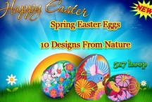 Spring Easter eggs embroidery collections