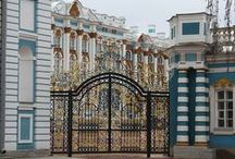 Catherine Palace / Actually Catherine Palace is located in the town of Tsarskoye Selo (Pushkin), about 25 km southeast of St. Petersburg, Russia. It was the summer residence of the Russian tsars.