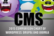 CMS / Una raccolta dei principale Content Management System (CMS): #drupal, #wordpress e #joomla