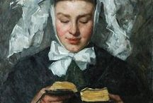 Uit de kunst / Boeken en lezen. Door de eeuwen heen vastgelegd door vele schilders. #kunst #boeken