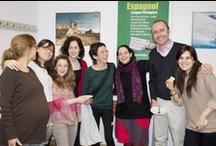 Comida internacional de la escuela. Primavera de 2013. / Alumnos y profesores comparten deliciosos platos de los distintos países y de España.