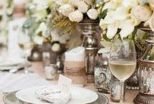 wedding table flower / table arrangement