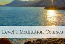 Meditation Courses: Level 1 / Meditation courses available for individuals seeking to find their happier, healthier, more peaceful self.