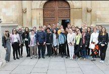 Estudiantes daneses estudiando español en Madrid.  / Grupo de estudiantes daneses, estudiando español en Madrid. Con la academia Paraninfo.