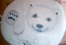 My stone painting / boyamalarım