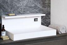 JP   solid surface washbasin / Lavabo con rubinetteria integrata