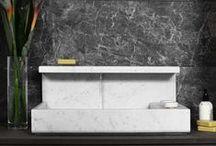 JP   carrara marble washbasin / Lavabo con rubinetteria integrata in marmo di carrara