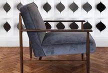 Gaia   armchair / Poltrona di design in legno e tessuto