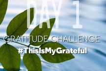 Gratitude Challenge: #ThisIsMyGrateful / For the next 30 days, I challenge you and me to practice gratitude. Gratitude, although it is such a simple concept, we often forget to practice it. Participating in a gratitude challenge has been proven to make being grateful a little easier because it serves as an ongoing reminder and it helps you to look for and see the gratitude that surrounds you.
