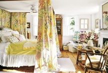 English Country Bedrooms / The one room where I indulge my old lady love of florals and clutter.