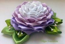 KWIATY Z TKANIN - YOU TUBE / Sposoby wykonania kwiatów z tkanin