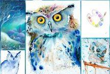 Watercolor Owl / by José