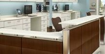 Medical Workspaces / Flexibility, comfort, and durability with unique components for clinical requirements. Furnishings for the nerve center of the patient area.