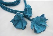 Felted:jewelry,brooches,flowers,belts