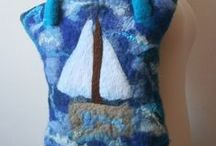 Felted bags,purses