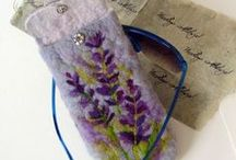 Felted phone, glasses cases