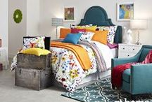 Bedroom Décor / At Home has the perfect headboard, bedding, pillows and art to create your dream bedroom.
