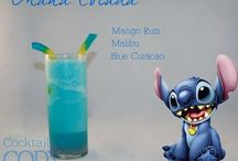 Disney Themed Cocktails / If you love Disney and Cocktails them here you you go here you will love this ideas for party's enjoy making the drinks :)