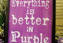 Purple is my colour