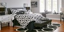 Black and White Décor / Get this on-trend look - complete your black and white look with any pattern you can think of.