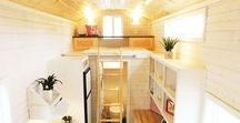 #Tiny #House Ideas / Based on Tiny Idahomes' Clear Creek model is the Artist's Tiny House. Tiny Idahomes built the tiny home for Emily, an artist that wanted a spacious loft to create her art. www.tinyidahomes.com
