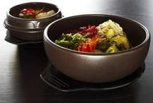 Korean Tableware and Cookware / Korean Stone Bowls, Korean BBQ Grill, Ddukbaegi, Bowls and Plates for Korean side dishes. Korean utensils and kitchen tools