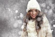 ~~{ White 4 Winter }~~ / Warm white wardrobe - cozy winter fashion.
