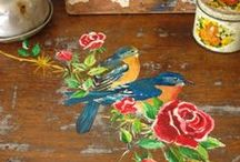decoupage and painting / by Demet
