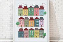 NURSERY/KIDS illustrations / ilustraciones infantiles / printable or physical illustration