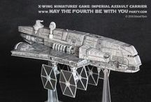 X-Wing Miniatures Game / We love playing the X-Wings game - and write reviews whenever the new ships come out.  Why don't you join us in a game? https://maythefourthbewithyoupartyblog.com