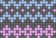 Hímzés-Kötés sablonok (Embroidery-Knitting charts) / Kötés, hímzés sablonok