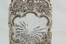 antique silver / Silver, Silver, Shining old silver! We love the look. https://www.etsy.com/shops/SilverFoxAntiques