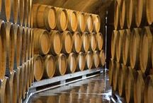 Wine Caves. / Wine caves are amazing - from historic to modern. Barrels are used to impart oak flavor and also through the slight evaporation of wine, that allows of the wine to slow develop.