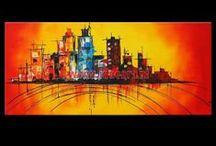 Schilderijen Steden en Skylines / Alle schilderijen steden en schilderijen skylines zijn handgeschilderd met acrylverf. Onze schilderijen steden en skylines hebben geschilderde zijkanten en ze vormen de voortzetting van de hoofd schilderij zodat het extra frame overbodig is. Wij hopen dat u snel een schilderij stad of schilderij skylines vindt, dat binnenkort uw woon,- of slaapkamer zal versieren en die inspiratie en een moment van bezinning zal zijn. 100% handgeschilderd, gratis verzending en tevredenheidsgarantie.