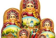 Collectible Russian Dolls / Every porcelain doll is crafted with beautiful details from top to bottom. These dolls feature traditional Russian costumes from the different Russian states and regions.  None of the dolls are made randomly or mixed and matched.  The costumes are replicated precisely to match the specific historical dress of the different Russian regions.   / by GreatRussianGifts.com