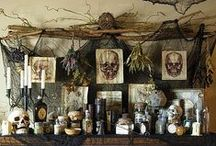 Halloween / I'm inspired by the opportunity to be creative.  This year we are creating mantel and tablescapes with Grimoires, potions, powders based on thrift store finds / by Amanda