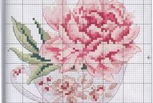 kruissteek patronen bloemen en bomen / by katia simons