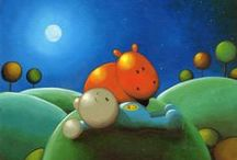 Original Oil Paintings / Hand painted Original Oil Paintings.  I'm very much inspired by artists such as Doug Hyde, Mackenzie Thorpe and Mark Grieves. :)