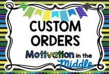 Custom Orders / Custom Product Covers, TOU, and credits, you simply add your content.  philicia.mollere@motivationinthemiddle.com Very reasonable rates!