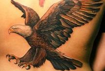 eagle tattoos / To succeed in life, you need two things: ignorance and confidence. ~ Mark Twain