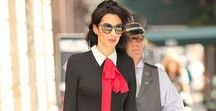 Amal at Work / Style inspiration from everyone's favorite Clooney. This humanitarian, supermom and ultra-human seems to look impeccable at all times. Why are we not surprised?