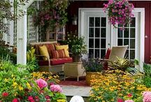 Beautiful Porches, Patios and Decks / My porch is the best room in my house and I think that everybody should have the joy of a porch, a covered patio or at least a deck where they can sit and enjoy the garden.