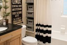 Bathroom   The Black Goose Design / Keeping it classy on the porcelain thrown!