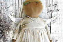 P R I M I T I V E / Primitive decorations dolls animals