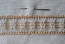 Artes manuais / Bainhas Abertas, Vainicas, draw thread work, sfilatures... bordado livre. Patchwork